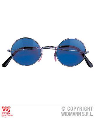 WIG 1960S POP SERGEANT FANCY DRESS COSTUME SET WITH BLUE HIPPY GLASSES TASH