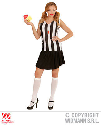 Womens Ladies Sexy Football Referee Girl Fancy Dress Costume Outfit Adult (Referee Outfit)