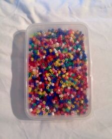 HAMA BEADS IN A CURRY TAKEAWAY TRAY.