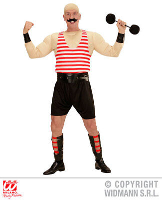 Mens Male Circus Strong Man Fancy Dress Costume Outfit Adult