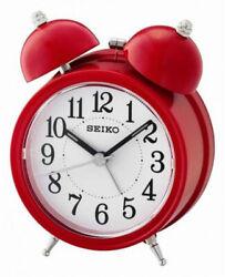 Seiko Bell Alarm Clock QHK035R NEW
