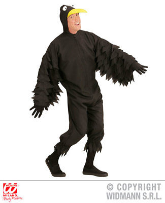Mens Male Crow Black Bird Fancy Dress Costume - Black Bird Kostüme