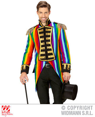 Mens Male Rainbow Parade Tailcoat Fancy Dress Costume Circus Outfit Adult