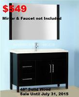 Bath Vanities, Showers, Faucets, Toilets, Bathtubs&Mosaics SALE.