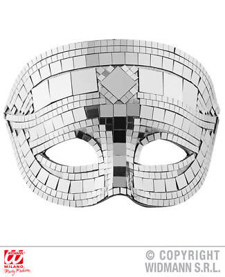 Silver Disco Ball Eyemask Halloween Masquerade Ball Fancy Dress Accessory