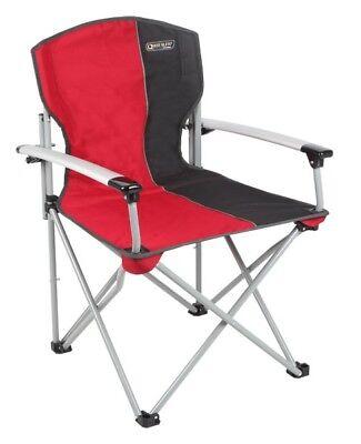 Quest Folding Commander Camping / Caravan Chair - Red / Black RRP £50