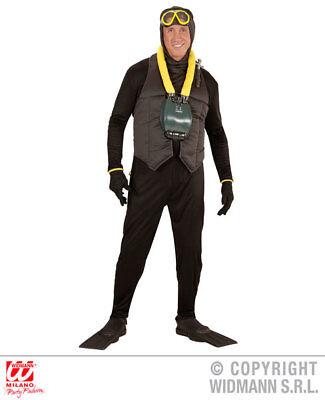 Mens Male Scuba Diver Fancy Dress Costume Outfit Adult