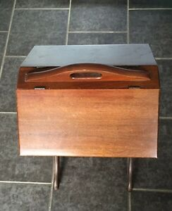Antique sewing box stand