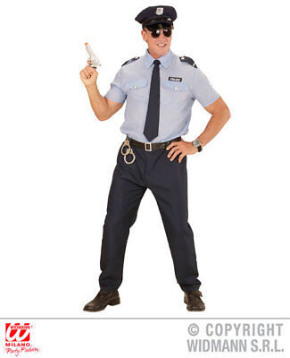 Mens Police Officer Fancy Dress Costume Cops & Robbers Outfit