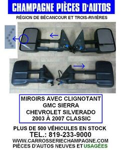 MIROIR EXTENSIBLE AVEC CLIGNOTANT  GM SILVERADO / SIERRA 03-07