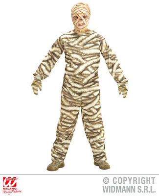 Mummy Kids Costume - Boys Kids Childs Mummy Halloween Fancy Dress Costume Outfit Children 5-16 Yrs