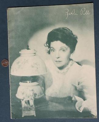 1920-30s Silent Film Actress Zasu Pitts 1946 Cordelia Illustrated Photo Booklet!