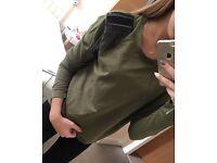 Green hoodie Vero Moda