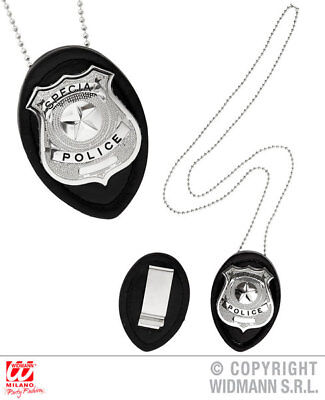Cops And Robbers Fancy Dress (Clip On Police Badge Necklace Cops And Robbers Fancy Dress Costume Accessory)