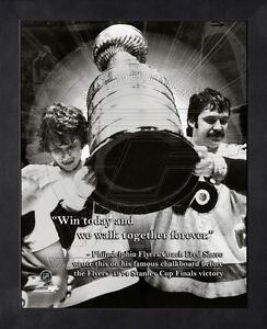 Fred Shero Philadelphia Flyers 8x10 Black Wood Framed Pro Quotes Photo