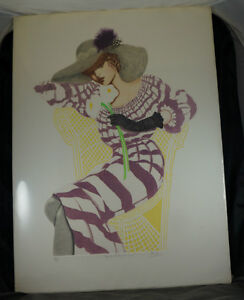 LIMITED EDITION PRINT by MARY VICKERS - GARDEN PARTY SIMONE