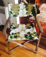 Chaise pliante bois teck antique réalisateur camping