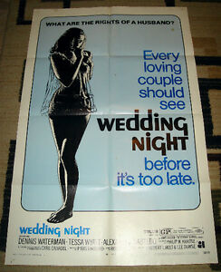 1970 AMERICAN INTERNATIONAL PICTURE MOVIE POSTER WEDDING NIGHT