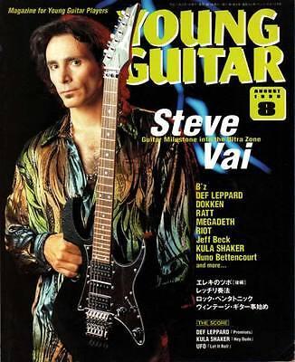 Young Guitar Aug//99 Steve Vai Ratt Dokken B/'z Jeff Beck Def Leppard George Lynch