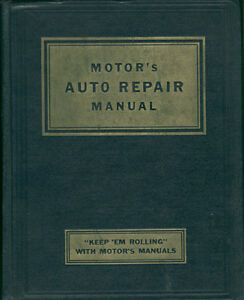 Motor shop Manual domestic cars 1935-1953