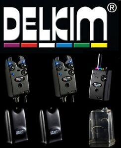 2* Delkim TXi Plus Bissanzeiger Funkbissanzeiger  + RX Plus Pro 6 Led Receiver