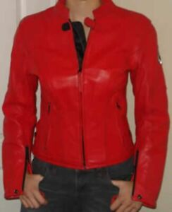 New women's motorcycle leather jacket