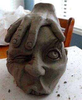 POTTERY/CERAMIC/SCULPTURE HANDBUILDING. CLASSES. MT COOLUM 2014