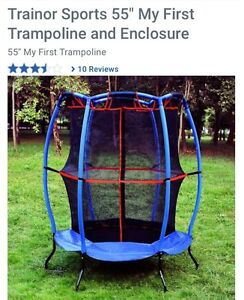 """Brand new 55"""" trampoline with enclosure"""