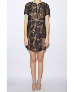 Rebecca Taylor Floral Lace Tee Dress - Size 12 - 73% Off!!