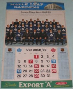 Maple Leafs 1968/69 Calendar