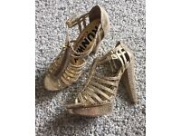 Next Sandals Gold - Size 6