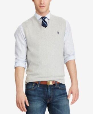 Polo Ralph Lauren Men's Heathered Sweater Vest, Small, ZR-T