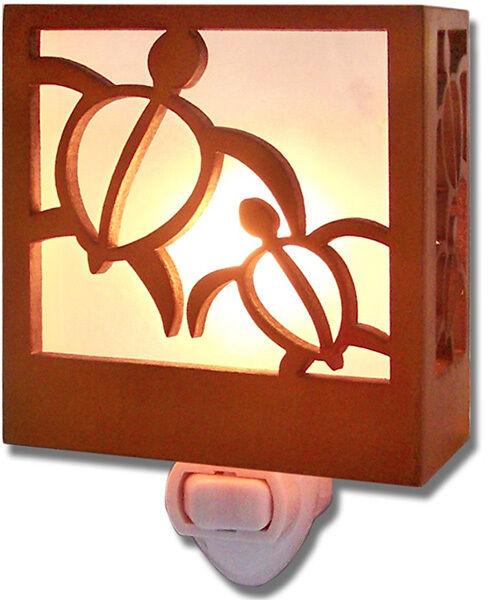 Hawaiian Wooden Nightlight Honus Tiki Bar Lighting Home Bathroom Office Decor NB