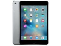 APPLE IPAD MINI 4- 128GB WIFI CELLULAR FACTORY UNLOCKED SPAC GREY- SEALED
