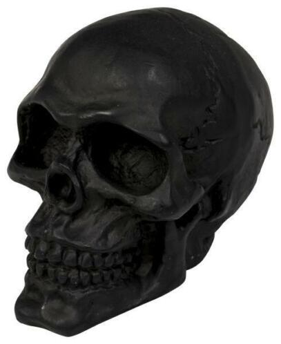 Cracked skull ornament, black