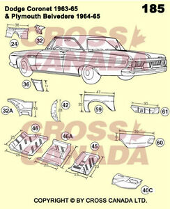 1968-1970 Dodge Coronet & Superbee Restoration Panels London Ontario image 1