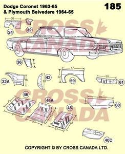 1968-1970 Dodge Coronet & Superbee Restoration Panels London Ontario image 1