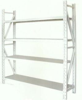 800KG 4 SHELF WAREHOUSE STEEL STORAGE SHELVING -  GENUINE LOAD