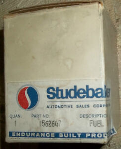 1964 to 66 STUDEBAKER LARK & SEDAN DASH FUEL GAUGE