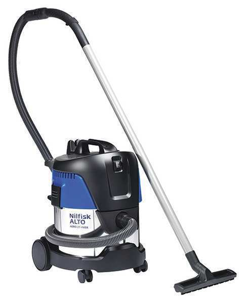 "NILFISK 107406621 Aero Wet/Dry Vacuum, Hose Dia. 1-1/4"", PET Filter, 3600"
