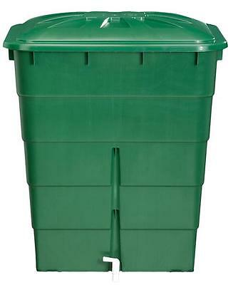 Regentonne eckig 300 Liter grün GARANTIA 501206
