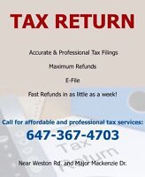 Most Affordable Tax Return Filing & Consultation in Woodbridge