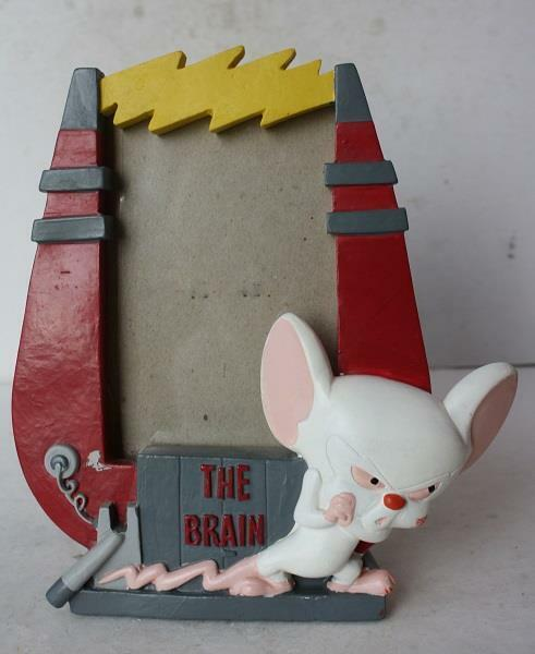 Pinky and the Brain Animaniacs 1997 Picture Frame Red Version with Brain-CUTE