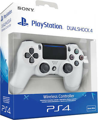 CONTROLLER PS4 DUALSHOCK 4 V2 BIANCO GLACIER WHITE PLAYSTATION 4 NUOVO SONY