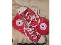 Red converse hi-tops