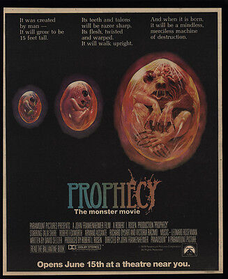 1979 PROPHECY Theater Monster Movie Release VINTAGE AD