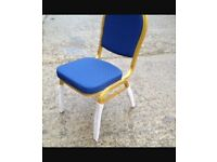 Banqueting chairs (blue) 100 AVAILABLE!!