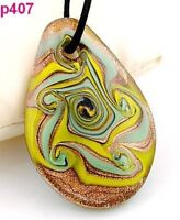 Abstract Vortex Murano Art Glass Pendant Necklace--NEW!!
