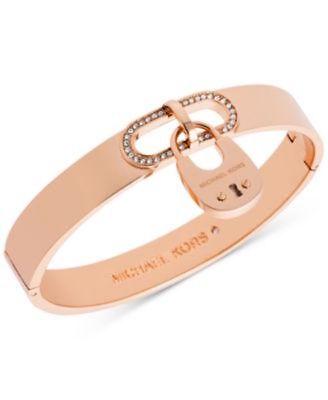 MICHAEL KORS Chain Link Padlock Bracelet in Rose Gold Tone - NWT