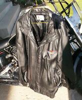 Men's XL Black Leather motorcycle jackets